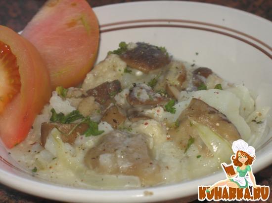 Рецепт Картофель, размятый с грибным соусом