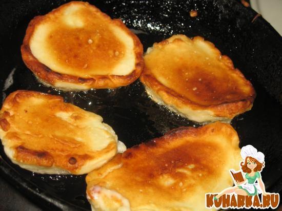 Рецепт Оладьи с творогом и яблоками в тесте