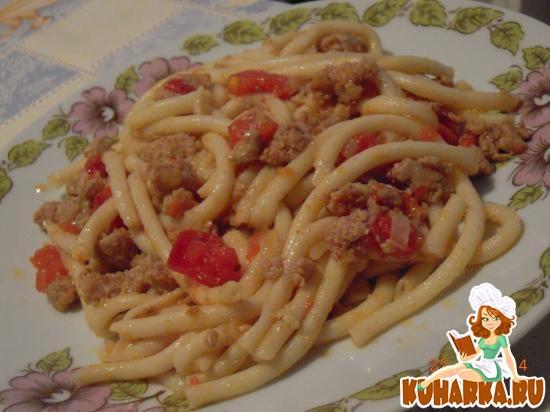 Рецепт Макароны с фаршем и помидорами