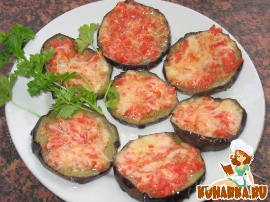 Рецепт Баклажаны с томатно-сырной намазкой