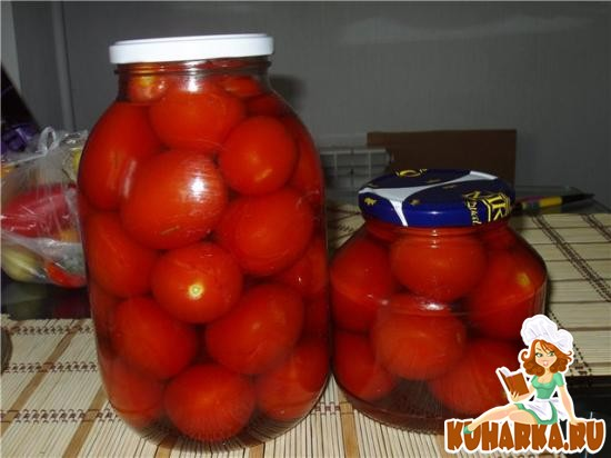 Рецепт Пикантные помидоры в яблочном рассоле
