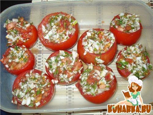 Рецепт Фаршированные помидоры квашенные