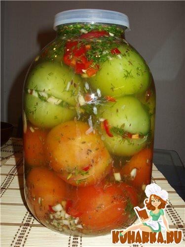 Рецепт Зелёные помидоры с начинкой