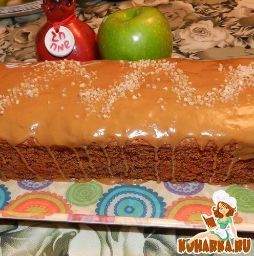Рецепт Яблочный пирог с карамельной глазурью