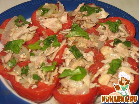 Рецепт Помидоры, фаршированные отварным мясом