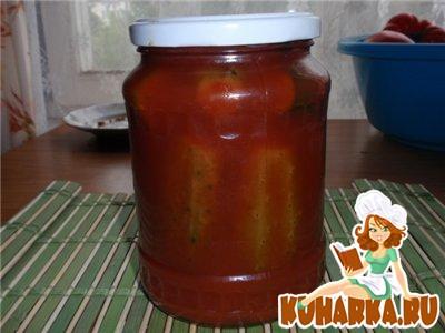 Рецепт Огурцы в томатной заливке