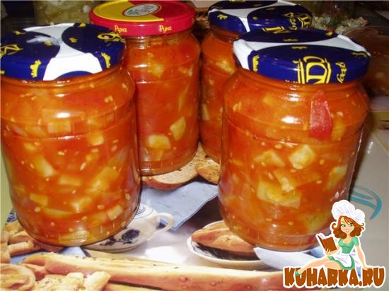 Рецепт Помидорно-кабачковый салат