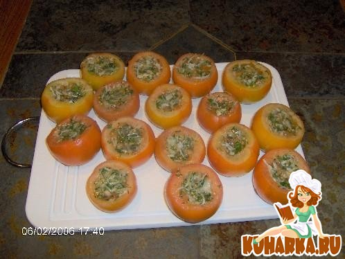 Рецепт Малосольные фаршированные помидоры