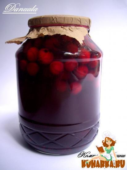 Рецепт Компот из вишен с каркаде (гибискус)