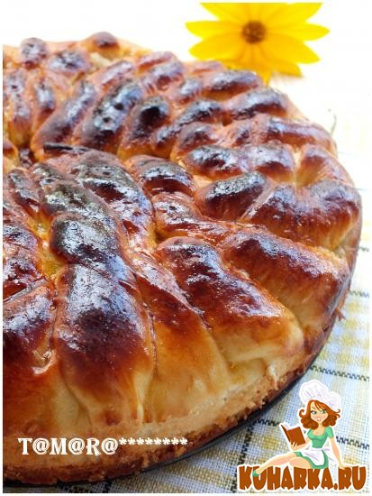 Рецепт Узорчатый пирог с облепиховым джемом
