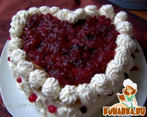 Рецепт Клюквеный торт со взбитыми сливками