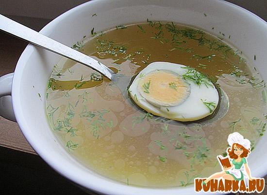 Рецепт Бульон из суповой курицы и фаршированные блины
