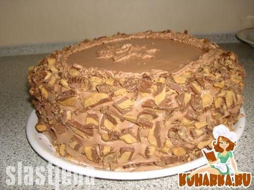 Рецепт Шоколадно-арахисовый торт
