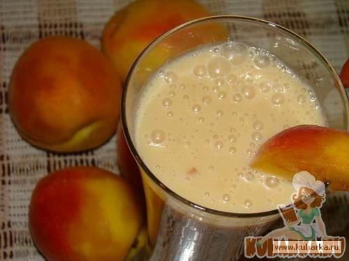 Рецепт Персиковый молочный коктейль
