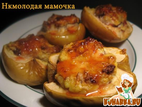 Рецепт Яблоки, фаршированные творогом и орехами.