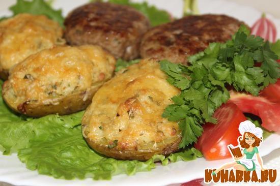 Рецепт Картофель, запеченный с сыром и беконом