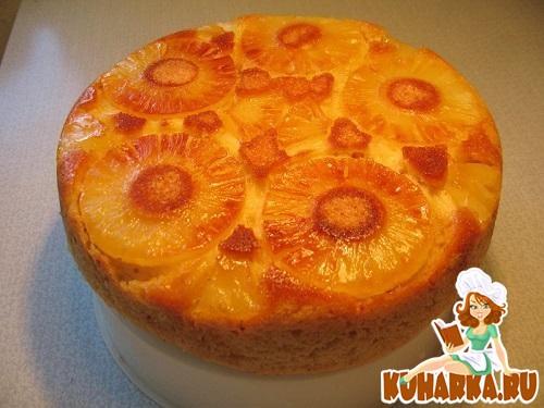 Рецепт Ананасовый пирог в мультиварке