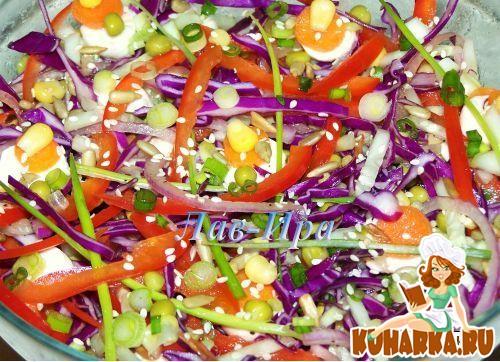 какие можно сделать салаты из красной капусты