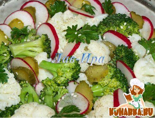 Рецепт Салат с цветной капустой,брокколи