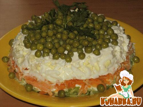 Рецепт Овощной салат с зелёной редькой