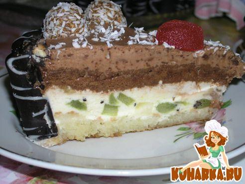 Рецепт Йогуртный торт с экзотическими фруктами