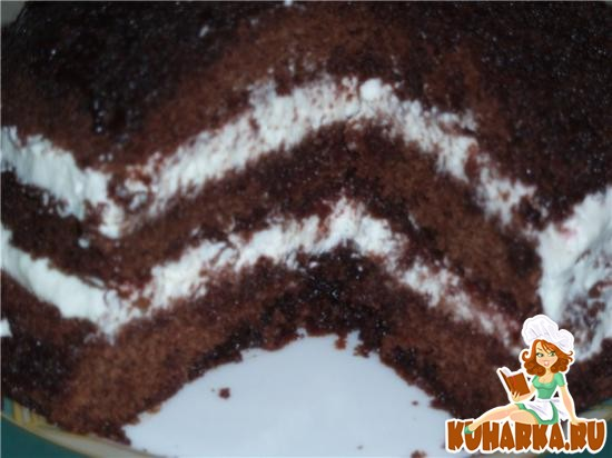 Рецепт Супер-шоколадный торт в микроволновке