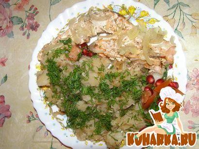 Рецепт Жаренная картошка и форель на пару