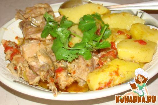 Рецепт Жаркое из кролика с картошкой