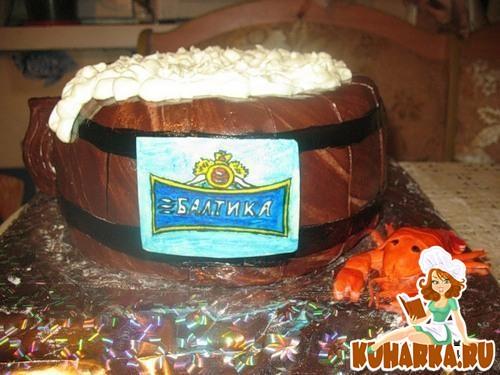 Рецепт Шоколадный пивной торт с шоколадным пивным кремом