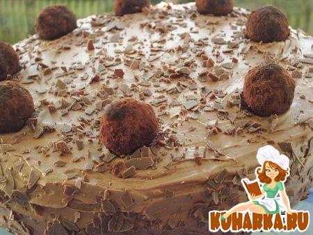 Рецепт Торт шоколадный с вишнями