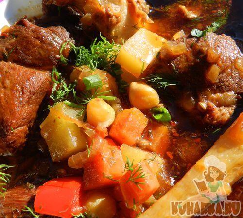 Рецепт Мохора(суп с горохом нут)
