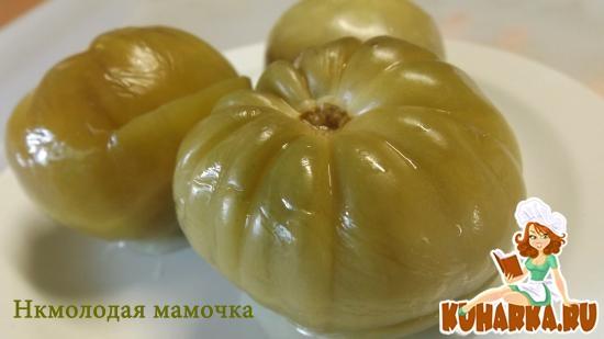 Рецепт Квашеные зелёные помидоры.