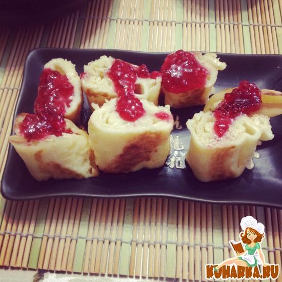 Рецепт Сладкий омлет на японский манер