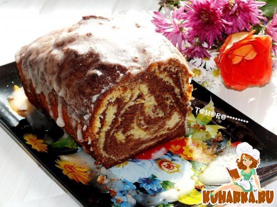 Рецепт Апельсиновый кекс с сахарной глазурью