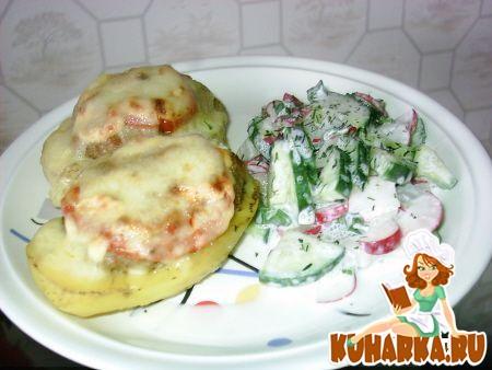 Рецепт Картошка запеченная с фаршем