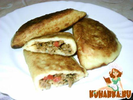 Рецепт Чебуреки из картофельного теста с фаршем