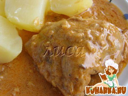 Рецепт Курочка в сливочном соусе