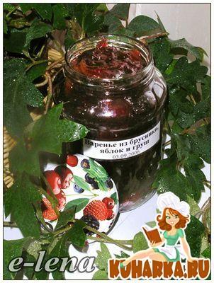 Рецепт Варенье из брусники, яблок и груш