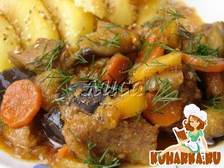 Рецепт Мясо тушеное с овощами
