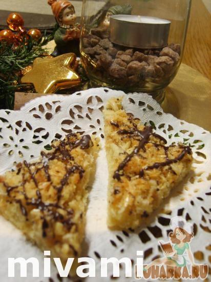 Рецепт Ореховые уголки с шоколадом-Nussecken mit Schokolade