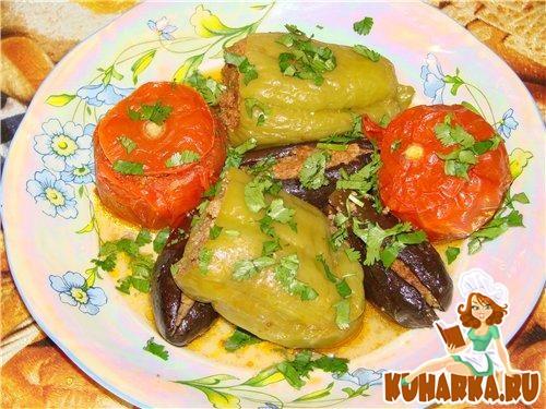 Рецепт Долма из баклажан и овощей