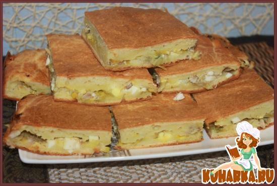 Рецепт Наливной пирог с курицей
