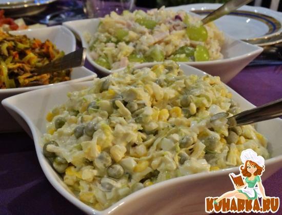 Рецепт Салат из лука порея (Salatka z pora)