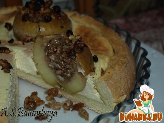 Рецепт Пирог с фаршированными яблоками