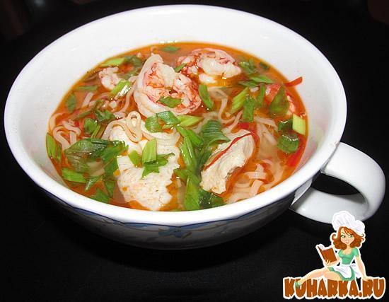 Рецепт Азиатский суп с лапшой
