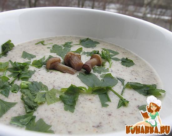 Рецепт Грибной суп-пюре с рисом