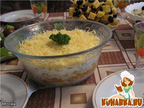Рецепт Салат из курицы с корейской морковкой