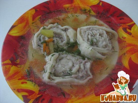 Рецепт Куриный суп с ленивыми пельменями