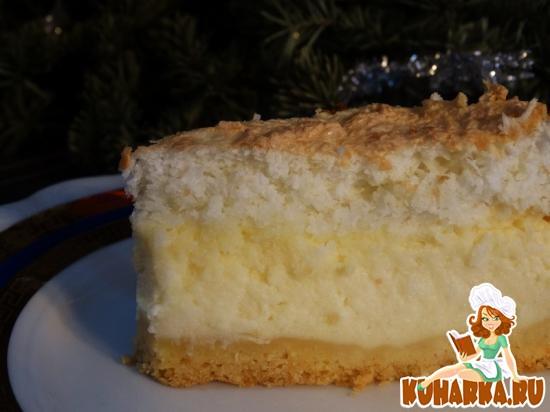 Рецепт Сырник с кокосовой пенкой (Sernik z pianka kokosowa)