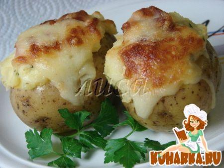 Рецепт Запеченная картошка с сырной начинкой